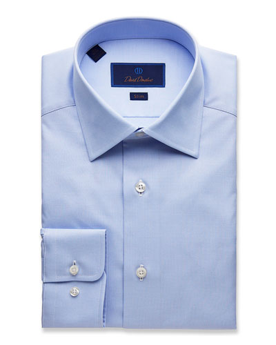 Men's Slim-Fit Micro Dobby Dress Shirt