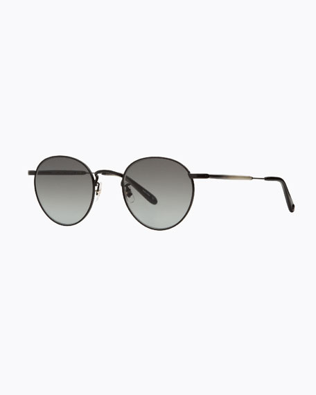 Garrett Leight Men's Wilson M 49 Round Sunglasses