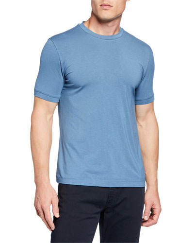 Men's Basic Crewneck T-Shirt, Medium Blue