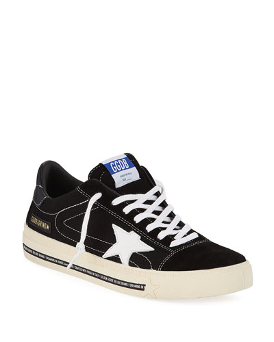 Men's Grindstar Lace-Up Suede Sneakers