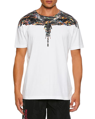 Men's Fluo Lights Wings-Graphic T-Shirt