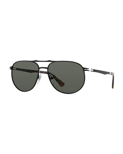 Men's PO2455S Metal Sunglasses