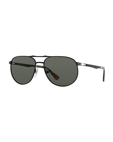 Persol Men's PO2455S Metal Sunglasses