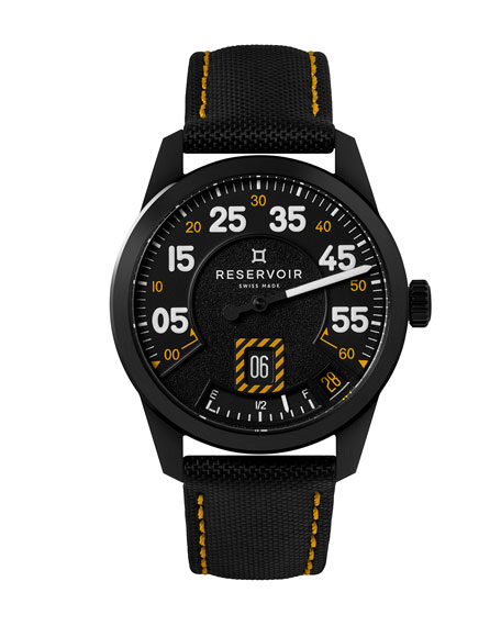 Reservoir Men's AirFight Jet Stainless Steel Watch w/ Yellow Strap