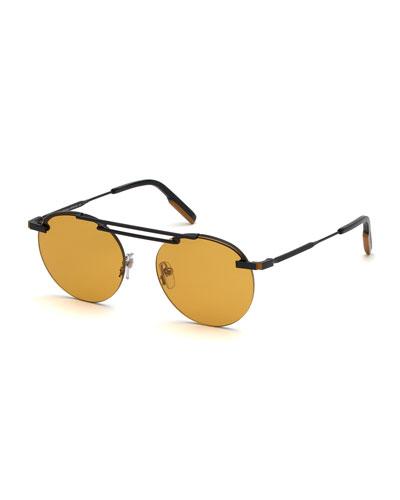 371d80929884 Quick Look. Ermenegildo Zegna · Men s Metal Semi-Rimless Sunglasses