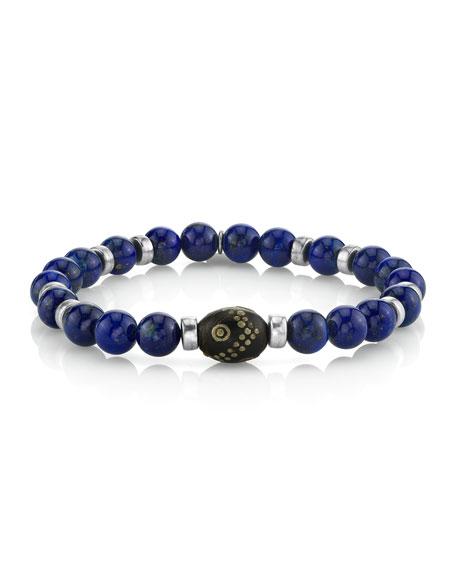 Mr. Lowe Men's 8mm Lapis Lazuli Bracelet
