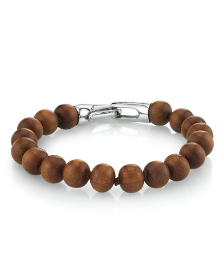 Mr. Lowe Men's Sandalwood Bracelet, Size M