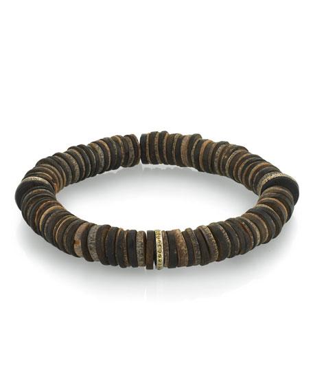 Mr. Lowe Men's Coconut & Diamond Bracelet, Size M