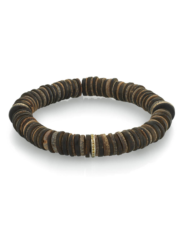 Men's Coconut & Diamond Bracelet