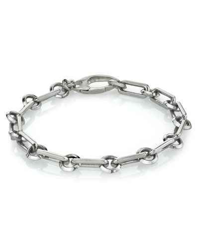 Men's Long Link Chain Bracelet, Size M