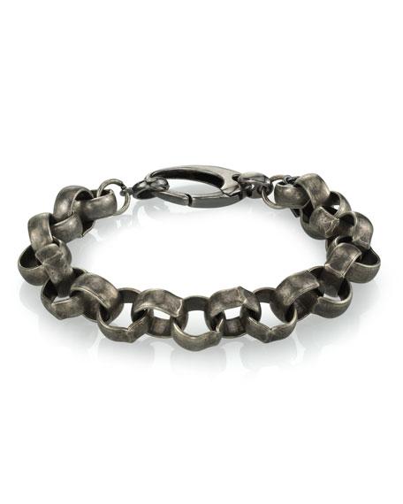 Mr. Lowe Men's Rolo Chain Bracelet, Size M