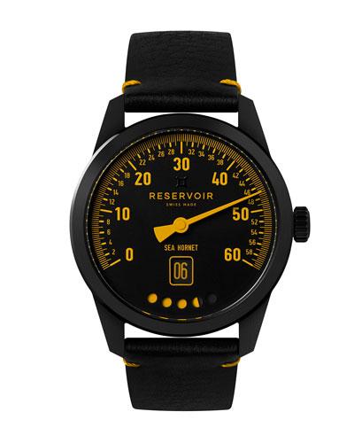 Men's Tiefenmesser Sea Hornet Watch w/ Leather Strap