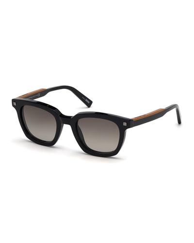 9e70b17a54f5 Quick Look. Ermenegildo Zegna · Men's Shiny Vicuna Square Sunglasses