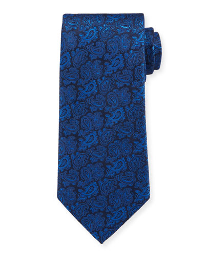 Men's Silk Tonal Paisley Tie