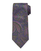 Etro Men's Large-Paisley Silk Tie
