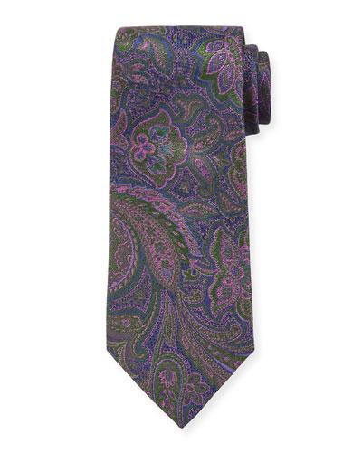 Men's Large-Paisley Silk Tie