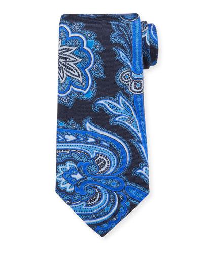 Men's Macro Paisley  Silk Tie