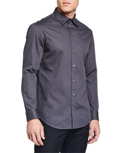 Men's Tonal Texture Sport Shirt