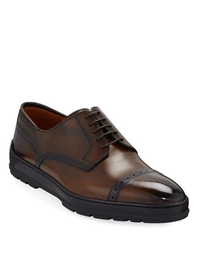 Men's Reigan Cap-Toe Leather Oxfords