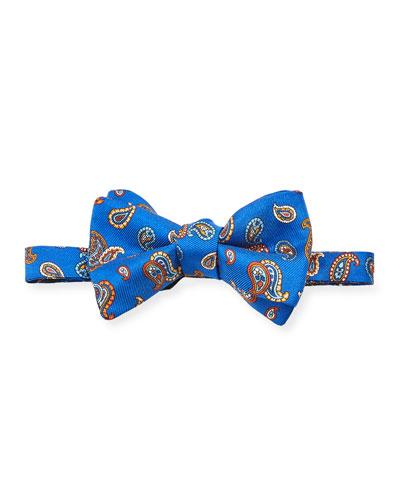 Men's Untied Paisley Silk Bow Tie