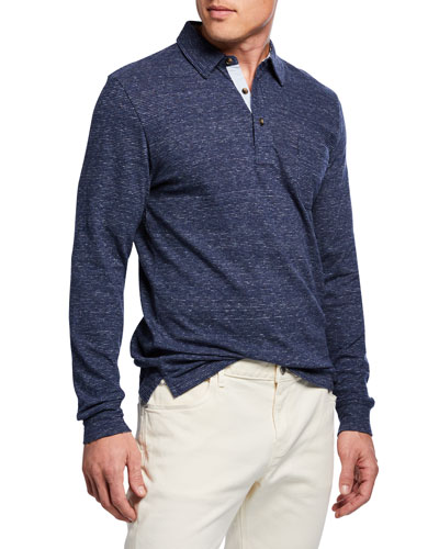 94714d0c978 Quick Look. Faherty · Men's Luxe Heathered Long-Sleeve Polo Shirt