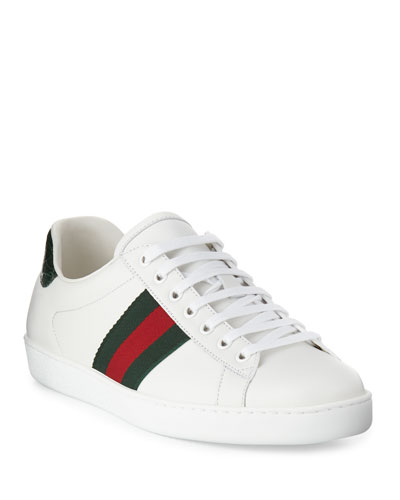 13d81b7fb8e7 Quick Look. Gucci · Men s New Ace Leather Low-Top Sneakers. Available in  Green