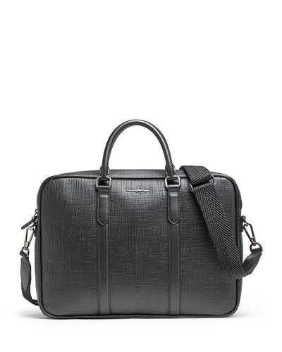 aaadb45e1 Black Zip Pocket Leather Briefcase | Neiman Marcus