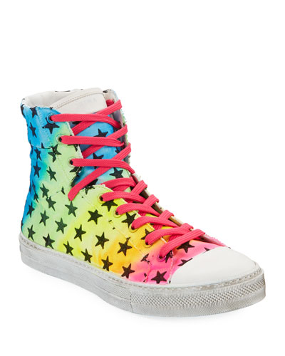 Men's Sunset Vintage Star High-Top Sneakers