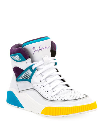 Men's Kery High-Top Leather Sneakers