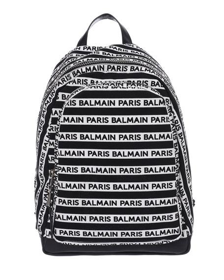 Balmain Men's Urban Small Canvas Backpack