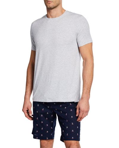 Men's Heathered Solid Short-Sleeve T-Shirt