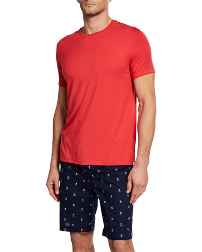 8d51cdca021e Quick Look. Derek Rose · Men's Basel Solid Short-Sleeve T-Shirt. Available  in Red