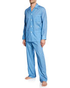 Derek Rose Men's Ledbury 21 Classic-Fit Pajama Set