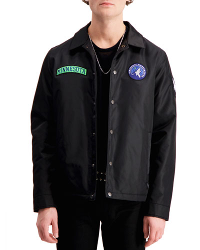 Men's Minnesota Timberwolves Patched Coach's Jacket