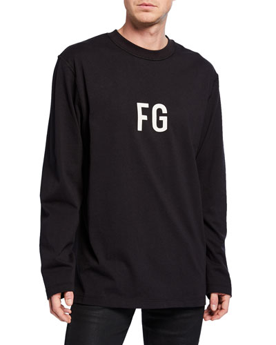 Men's Logo Typographic Long-Sleeve T-Shirt