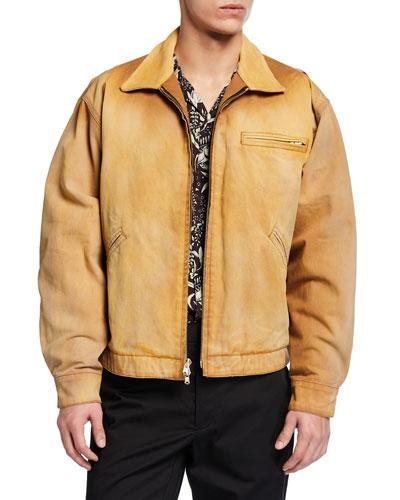 Men's Canvas Zip-Front Work Jacket