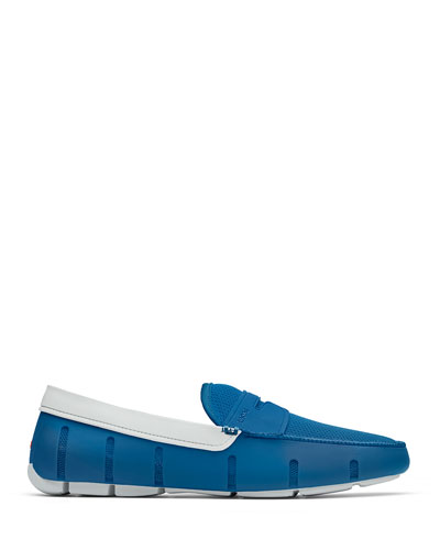 Men's Rubber Penny Loafer Water Shoes, Seaport Blue/Alloy