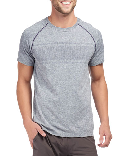 Men's Velocity Seamless Short-Sleeve T-Shirt, Navy Heather