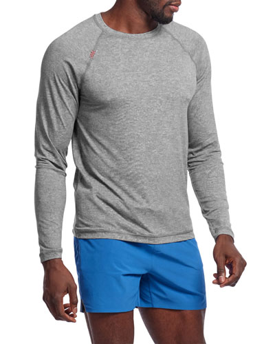 Men's Reign Heathered Long-Sleeve T-Shirt, Legacy Gray