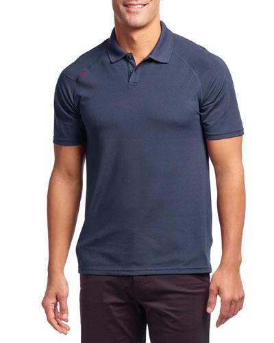 Men's Delta Pique Polo Shirt, Navy