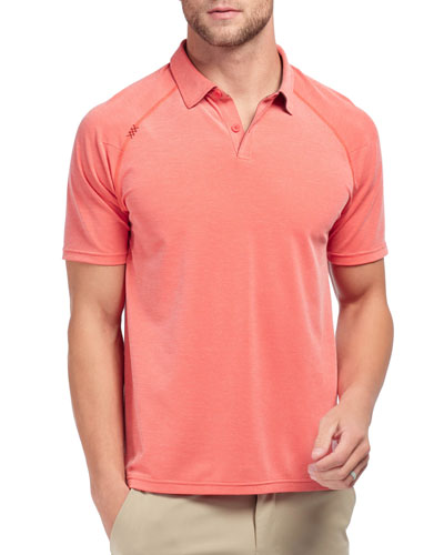 Men's Delta Pique Polo Shirt, Rojo Red
