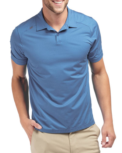 Men's Transfer Solid Knit Polo Shirt