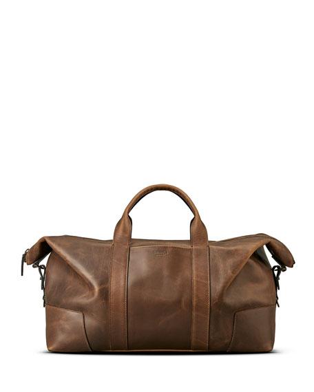 Shinola Men's Navigator Large Leather Carryall Duffel Bag
