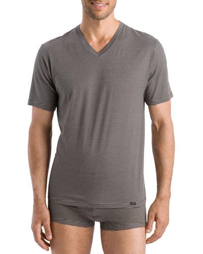 Men's Sporty Stripe V-Neck T-Shirt
