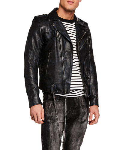 Men's Kio Leather Moto Jacket