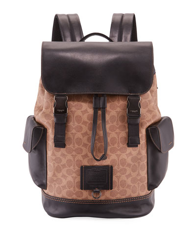 Men's Rivington Backpack in Signature Logo Print