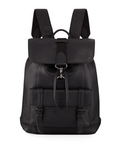 Men's Bleecker Pebbled Leather Backpack