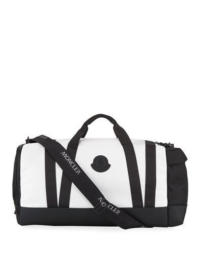 Men's Nylon Canvas Zip-Top Duffel Bag