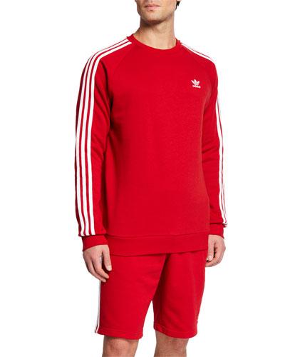 Men's Three-Stripe Crewneck Sweatshirt