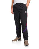 Adidas Men's Side-Stripe Woven Track Pants